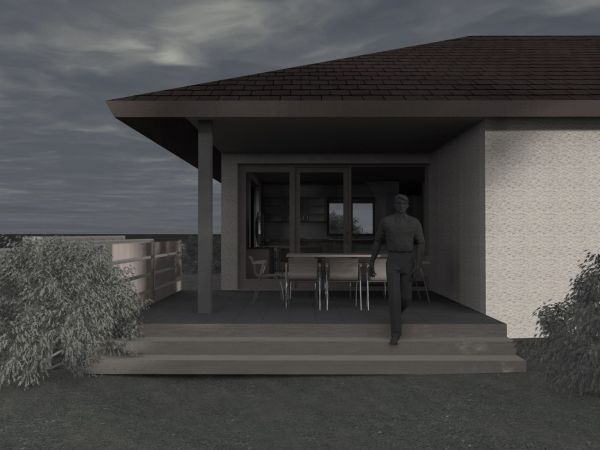11 pogled na terasu - sumrak  slika